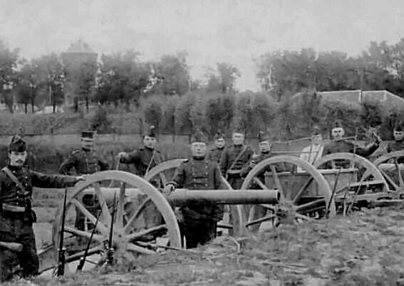 20e-1hlf Gorinchem militairen kanonnen 1912