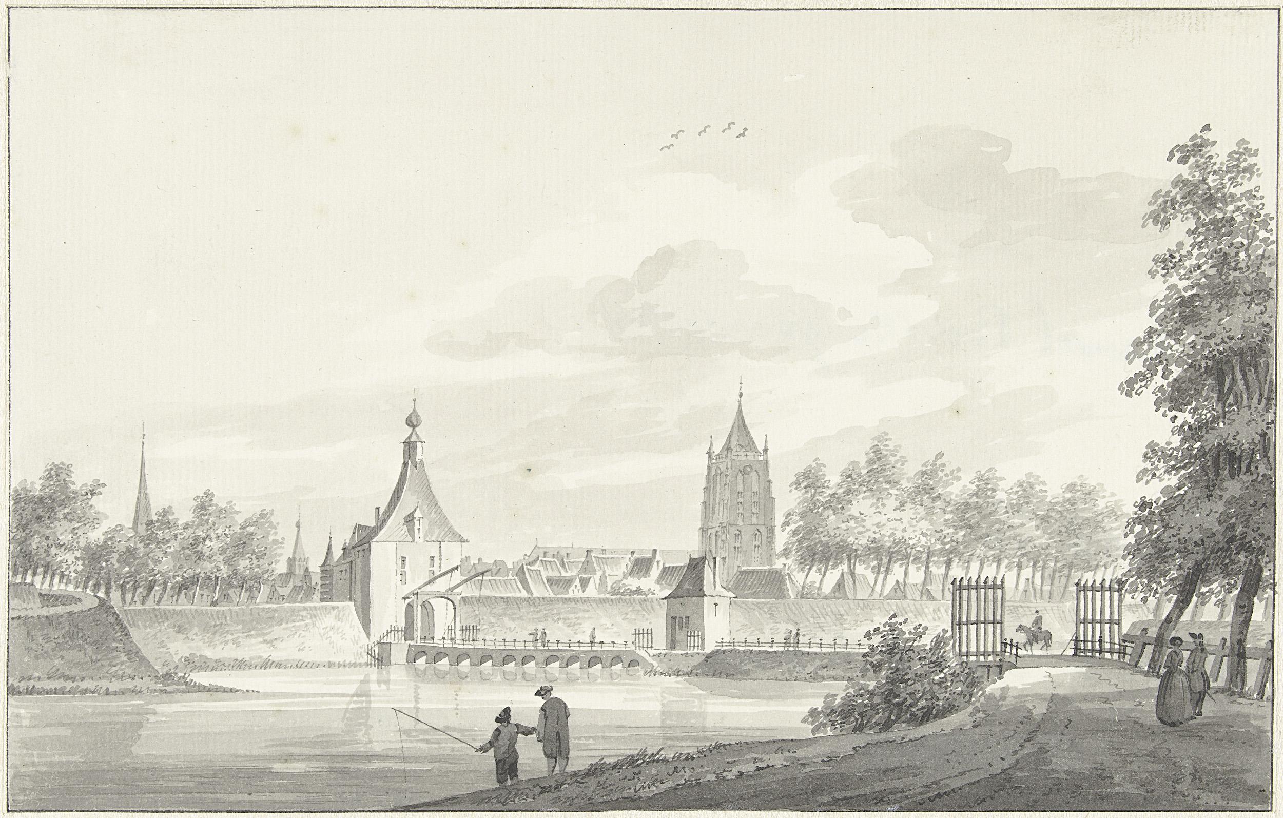 Gorinchem zicht op Kanselpoort 1739