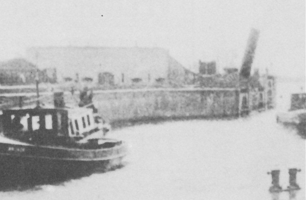 Merwedesluis met Capponiere 1922 detail
