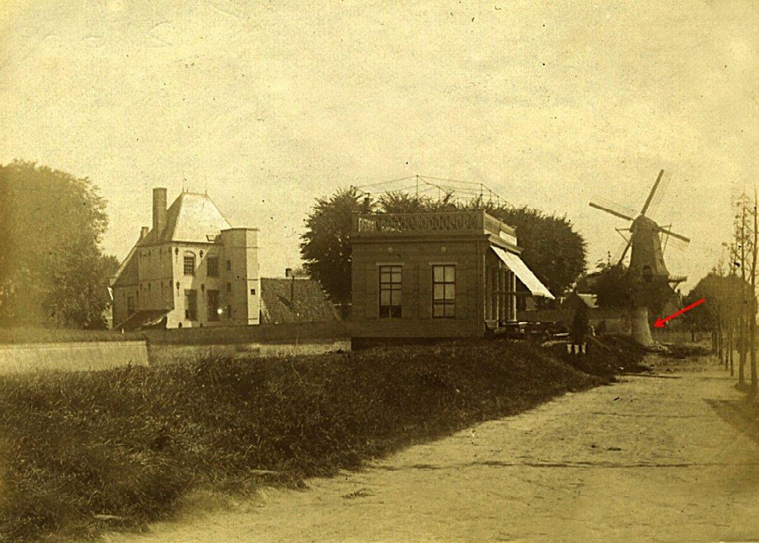 Buiten de Waterpoort, aug 1893 pijl