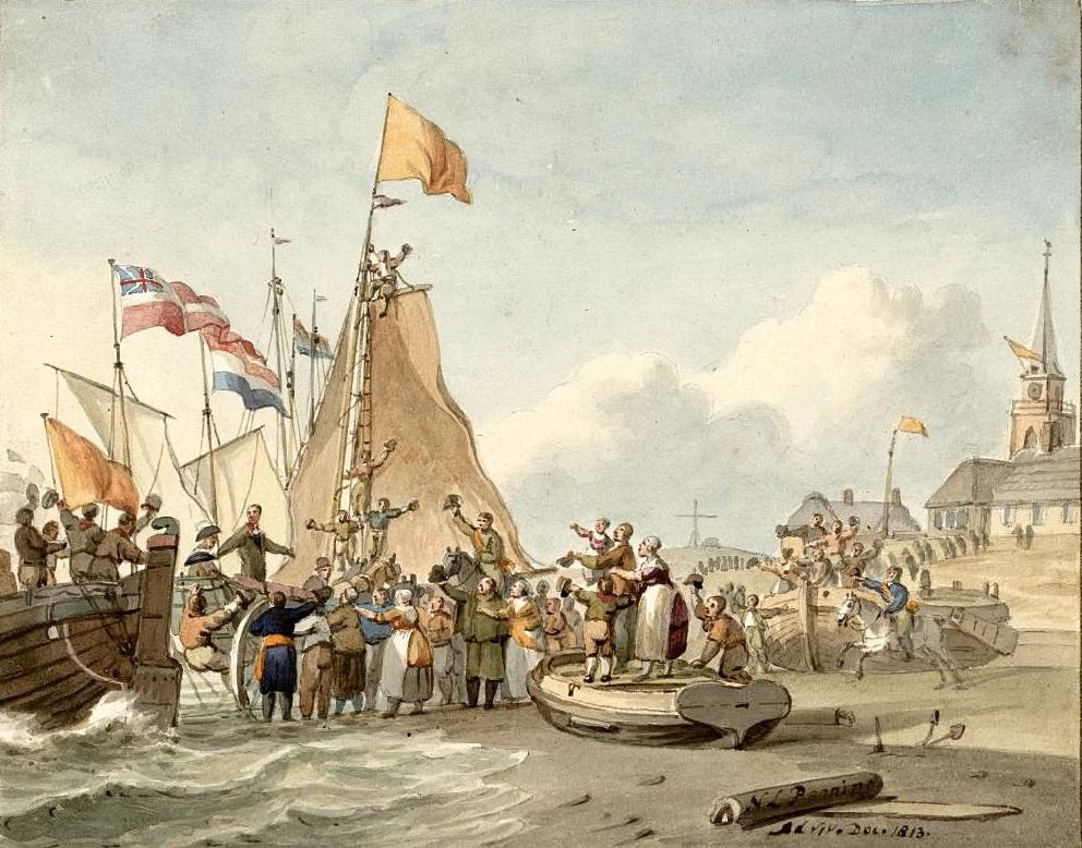 Landing_Willem_Frederik_Scheveningen_1813