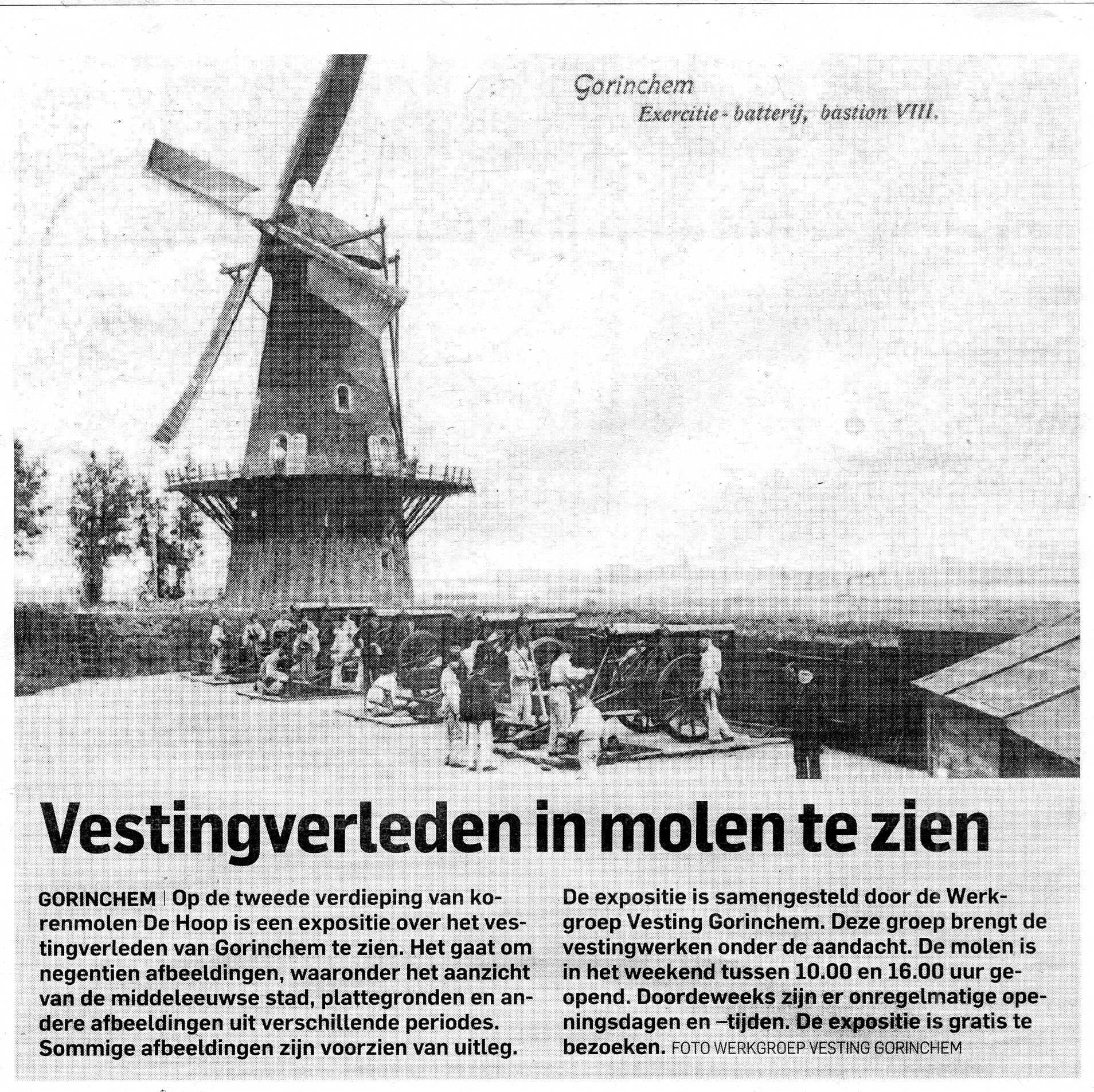 Werkgroep Vesting Gorinchem expositie De Hoop AD donderdag 3 maart